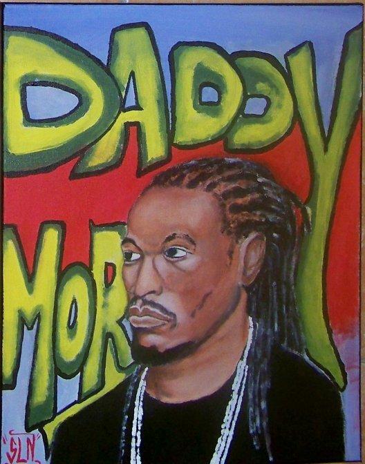 DADDY MORY fait a la peinture. Septembr 2010. Artiste Reggae/Dancehall Fr