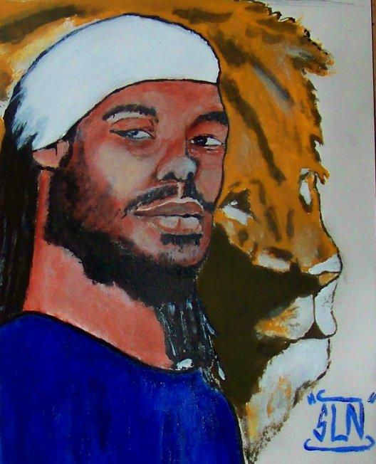 STRAIKA D fait a la Peinture.Septembre 2010. Artiste Reggae/Dancehall