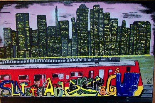 THE CITY fait a la Peinture. Septembre 2010.