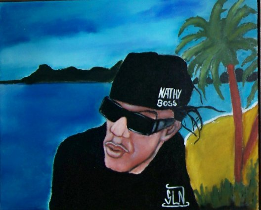NATHY fait a la Peinture. Septembre 2010. Artiste Hip Hop/Ragga Fr