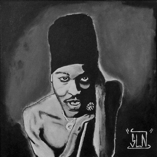 ANTHONY B fait a la peinture. Septembre 2010. Artiste Reggae JA