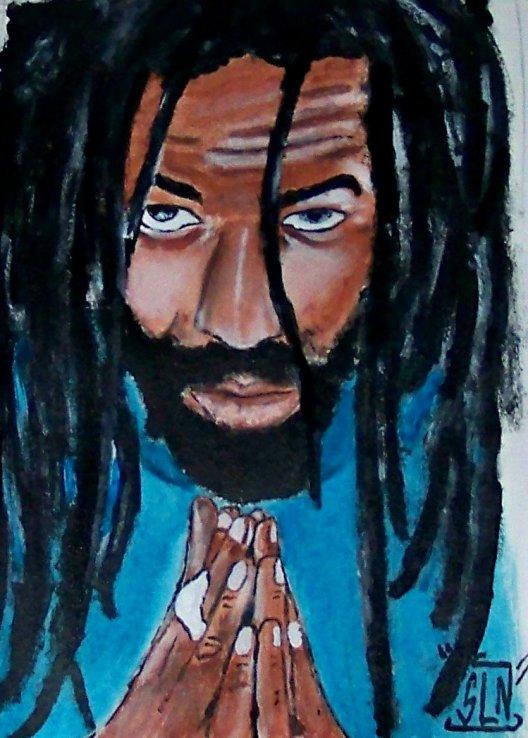 BUJU BANTON fait a la Peinture.Septembre 2010. Artiste Reggae/Dancehal JA