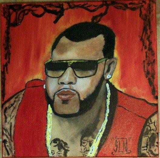 FLORIDA fait a la Peinture. Octobre 2010. Artiste Hip Hop US
