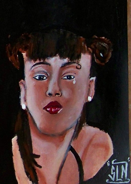 "Lisa "" LEFT EYE "" Lopes fait a la Peinture. Novembre 2010. Legend"