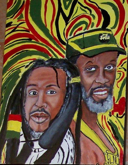 STEEL PULSE fait a la Peinture.Novembre 2010. Groupe de Reggae Anglais