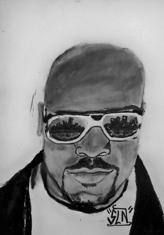 ROYCE DA 5'9'' fait au pastel. Novembre 2010.Artiste Hip Hop US