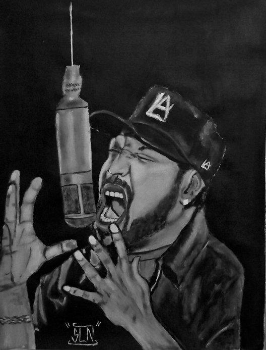ICE CUBE fait a la Peinture. Novembre 2010. Artiste Hip Hop US