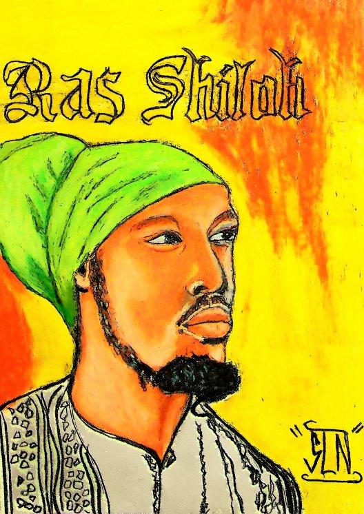 RAS SHILOH  fait au Pastel. Décembre 2010. Artiste Reggae