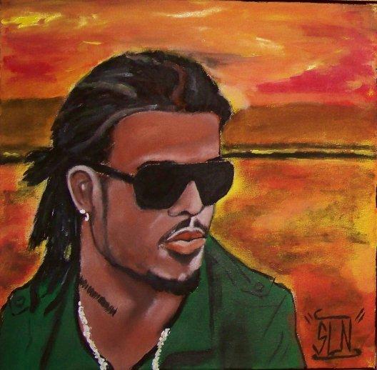 KALASH fait a la peinture.Décembre 2010. Artiste Dancehall Fr