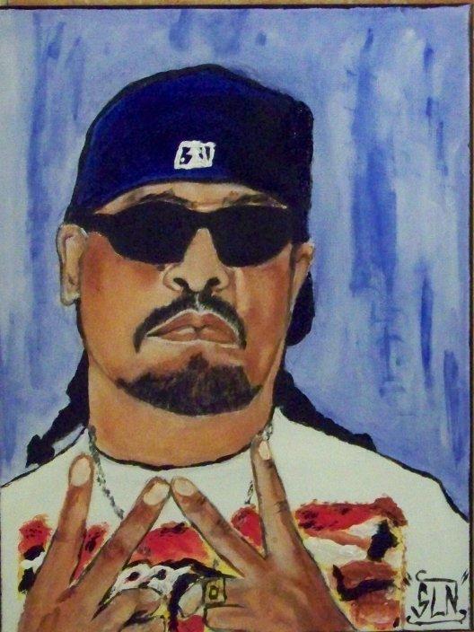 ICE T fait a la Peinture. Décembre 2010. Artiste Hip Hop US