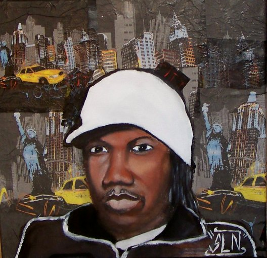KRS ONE fait a la Peinture. Décembre 2010. Artiste Hip Hop US (the Teacher)