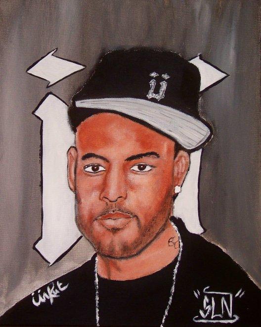 BOOBA fait a la Peinture. Decembre 2010. Artiste Hip Hop Fr