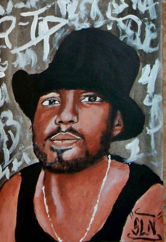 Q-TIP fait a la Peinture. Janvier 2011. Artiste Hip Hop US