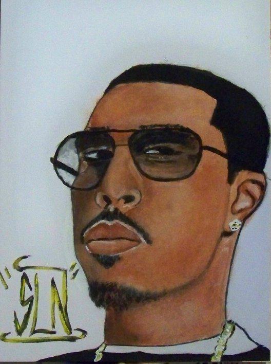 LUDACRIS fait a la Peinture. Janvier 2011. Artiste Hip Hop US