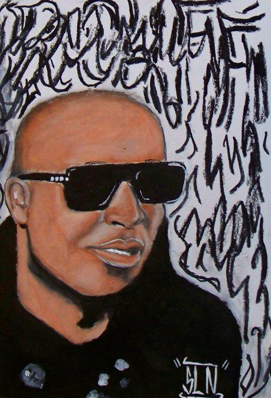 ROHFF fait au pastel. Janvier 2011. Artiste Hip hop Fr