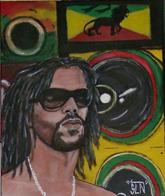 DJAMATIK fait a la Peinture. Janvier 2011. Artiste Reggae/dancehall FR