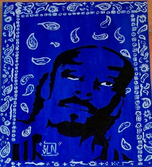 SNOOP DOGG fait a la peinture.Janvier 2011.Artiste Hip Hop US