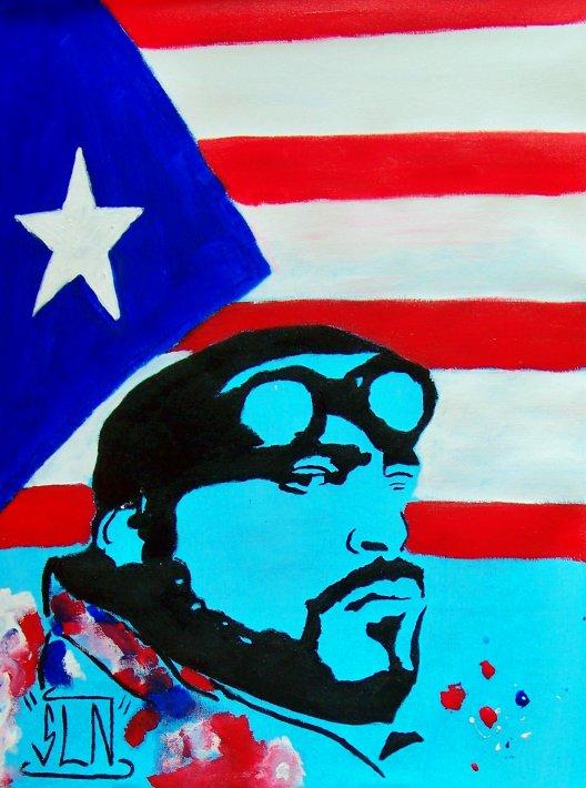BIG PUN fait a la Peinture. Janvier 2011. Artiste Hip Hop US (R.I.P)