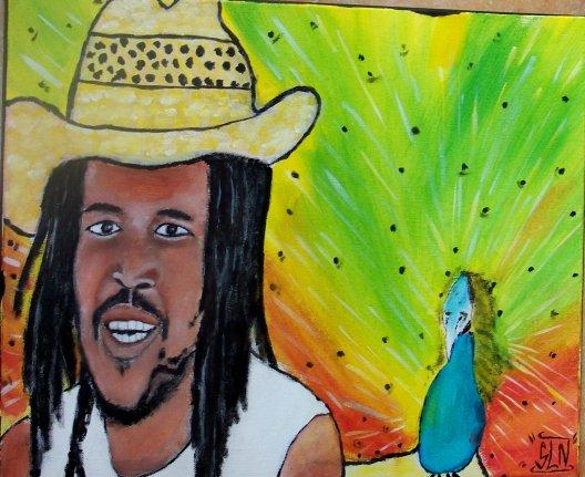 TENOR fait a la Peinture. Fevrier 2011. Artiste Reggae Fr