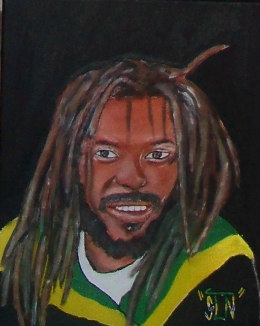 BUJU BANTON fait a la Peinture.Fevrier 2011. Artiste Reggae/Dancehal JA