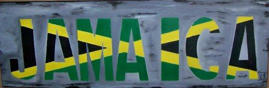 "Toile ""JAMAICA"" fait a la peinture. Mars 2011."
