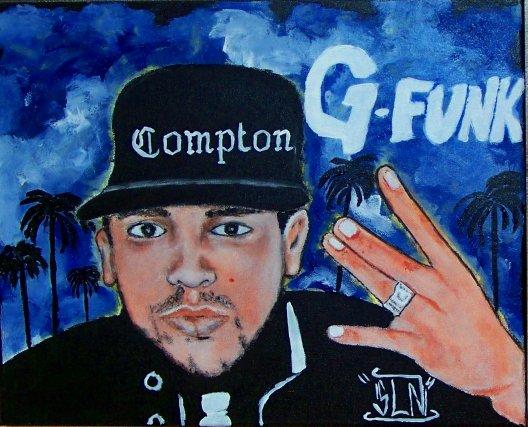 COMPTON Le FRENCH CALIFORNIEN fait a la Peinture. Mars 2011. Artiste Hip Hop Fr