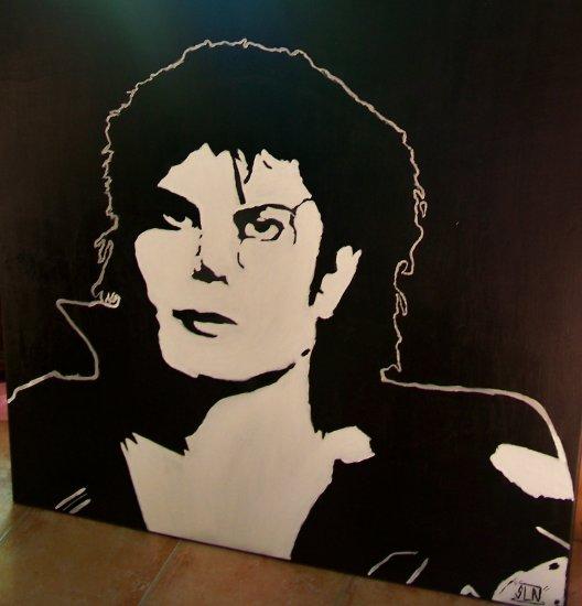 Toile MICHAEL JACKSON fait a la Peinture. Avril 2011