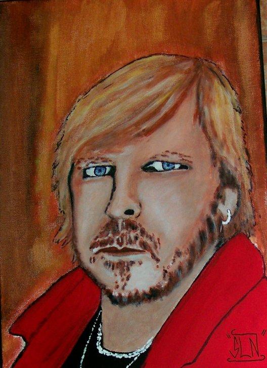 Toile RENAUD fait a la Peinture. Avril 2011. Chanteur Fr