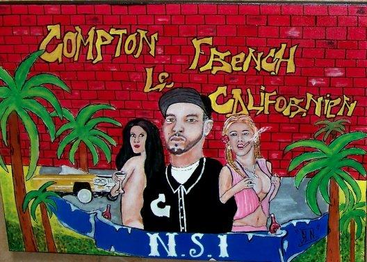 COMPTON Le FRENCH CALIFORNIEN fait a la Peinture. Avril 2011. Artiste Hip Hop Fr