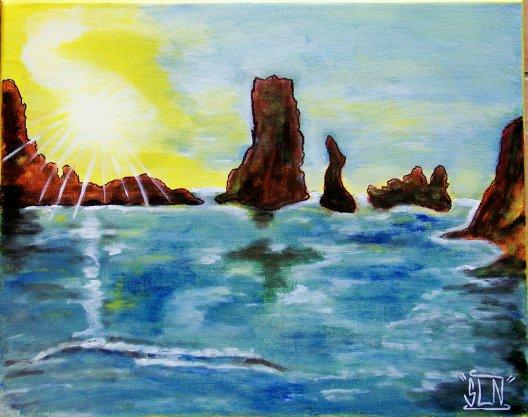 Paysage MER fait a la peinture. Avril 2011.