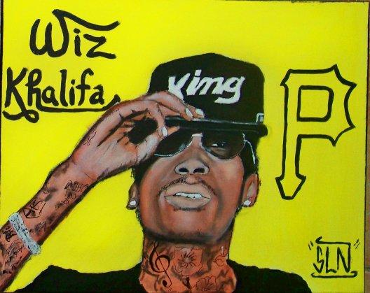 WIZ KHALIFA fait a la Peinture. Mai 2011. Artiste Hip hop US