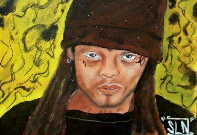 LIL WAYNE fait a la Peinture. Juin 2011. Artiste Hip Hop US