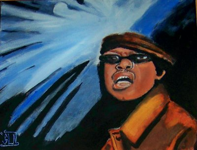 Toile GURU fait a la Peinture. Juillet 2011. Legend Hip hop
