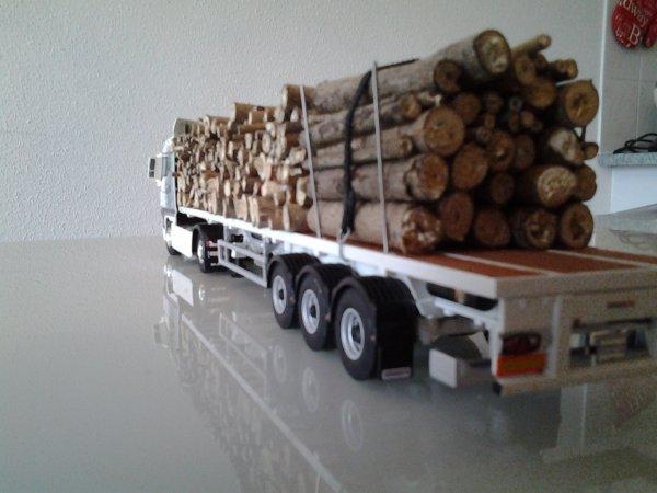un MAN plein de bois