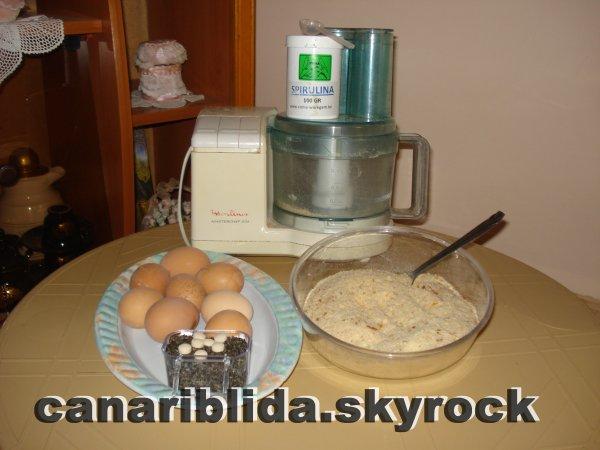 preparation du patté pour mes canaris