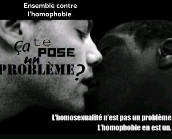 Ne plus tolérer l'homophobie. ...ensemble contre cela ......