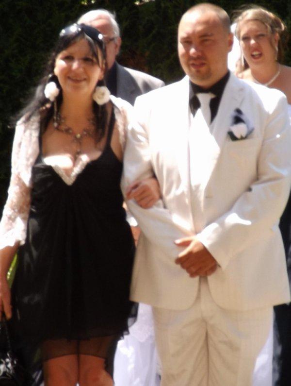 moi et mon fils le jour de son mariage