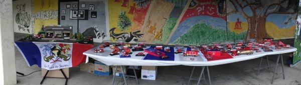 Congrès UD 79 Pamproux 12 Mai 2012 Photos présentation de ma collection de mini avec maquette caserne