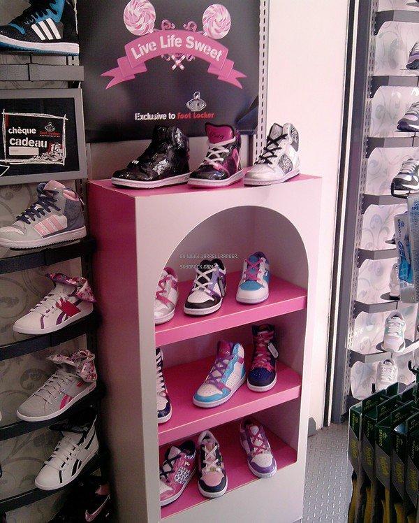 Les chaussures PASTRY dans la magasin FOOT LOCKER :D (photo prise par moi) PRIX ? 90 ¤ ou 80¤  suivant le model
