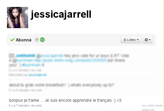 Jessica parle Français sur twitter: :) / Jessica speaking French on twitter :)