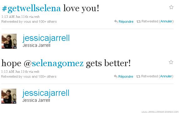 Jessica support Selena Gomez via twitter <3