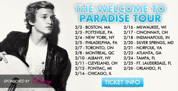 Cody Simpson's WELCOME TO PARADISE tour ft Jessica