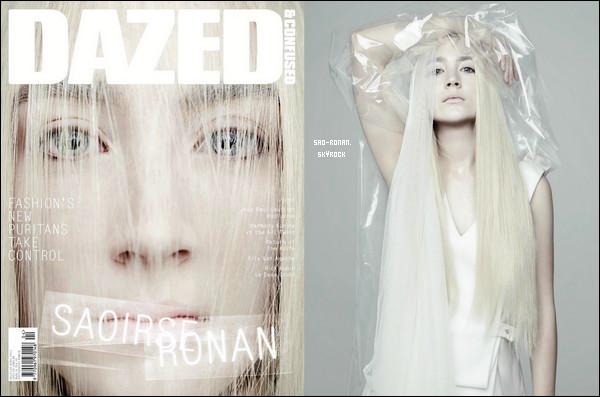 """Saoirse fait la couverture du magazine anglais """" Dazed & Confused """" d'avril"""