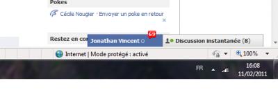 Retour sur facebook , combien de message avont nous partagé le jour précédant ? x) on se demande le sujet de conversation ^^