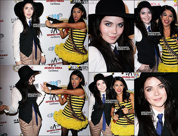 23/10/2013 : Grace déguisée, s'est rendu aux8th Annual Halloweenie Holiday Concert avec Chrissie Fit.