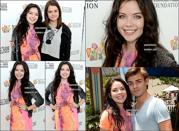 2 juin 2013 : Grace accompagné de Maia Mitchell et Garett Clayton étaient aux EGPAF .