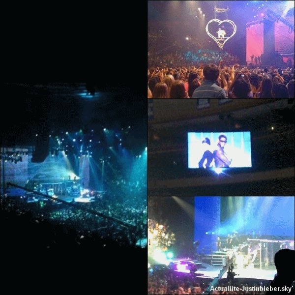 .                                                                                                                                                                                                              31 Aout : Justin au Madison Square Garden &  Vidéo du concert : Overboard Justin ft Miley Cyrus ! J'adore !!! Toi ? :D                                                                           .