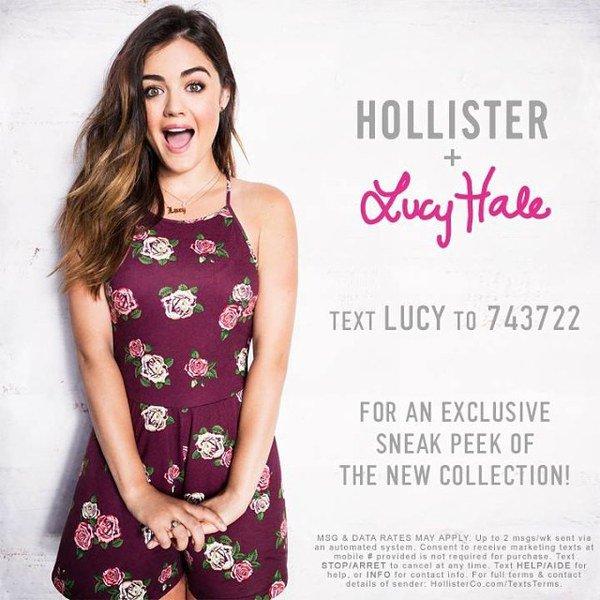 Lucy Hale signe deux collections pour Hollister