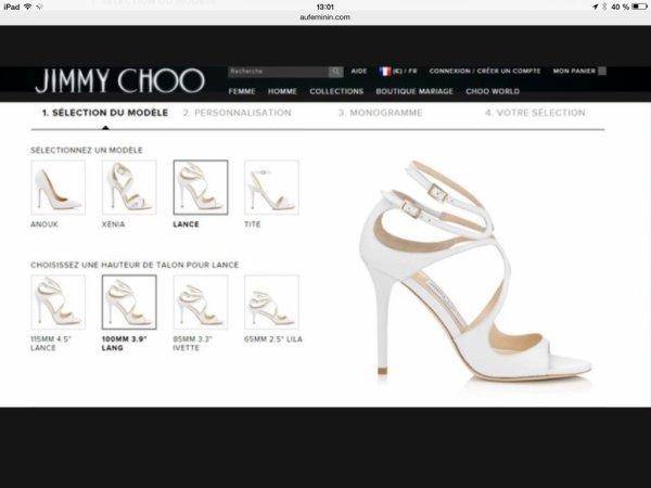 Jimmy choo se lance dans la chaussure 100% personnalisable