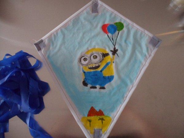 mes   créations  de  cerf volant  pour enfant  ( type Eddy)